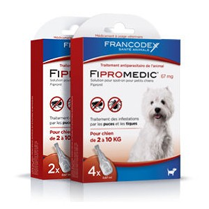 FRANCODEX FiproMedic petits chiens - Anti-parasitaire en pipettes