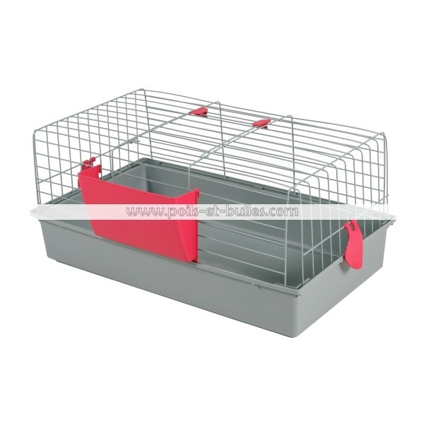 zolux cage bunny 80 grise pour lapin nain ou cobaye. Black Bedroom Furniture Sets. Home Design Ideas
