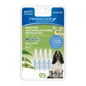 FRANCODEX Pipettes insectifuge chien