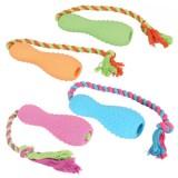 Jouet TPR quille & corde pour chien