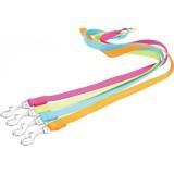 Laisse nylon uni flashy aux couleurs vives pour chien