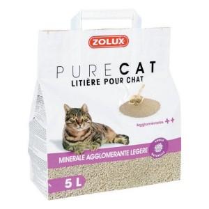 ZOLUX PureCat litière minérale agglomérante légère pour chat