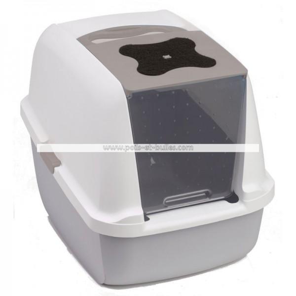 cat it maison de toilette avec filtre pour chat. Black Bedroom Furniture Sets. Home Design Ideas