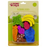 LIVING WORLD 14 Jouets bois percés à ronger