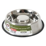 ZOLUX Gamelle inox Slow Eating anti-dérapante pour chien