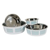 ZOLUX Gamelle inox Yummy bleue pour chien ou chat
