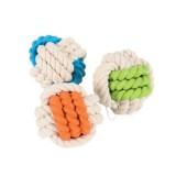 ZOLUX Jouet corde caoutchouc balle pour chien - Couleurs assorties