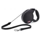 FLEXI Classic Basic 1 cordon noir S - Laisse rétractable pour petit chien