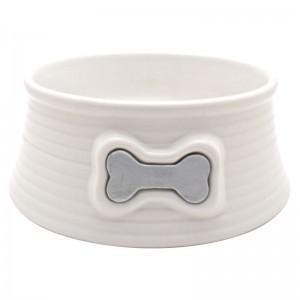 DOG IT Gamelle céramique crème