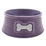 DOG IT Gamelle céramique violette pour chien