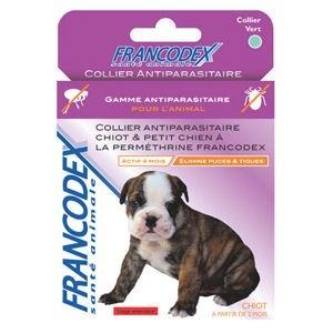 FRANCODEX Collier anti-parasitaire pour chiot et petit chien