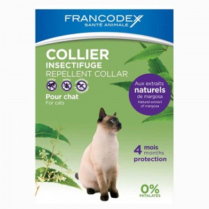 FRANCODEX Collier insectifuge chat