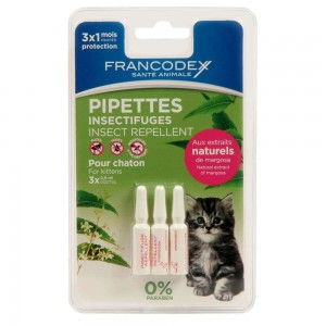 FRANCODEX Pipettes insectifuge chaton