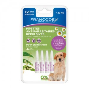 FRANCODEX Pipettes insectifuge grand chien