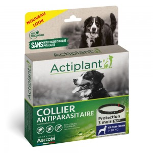 ACTIPLANT Collier antiparasitaire grand chien