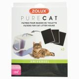 ZOLUX PureCat Filtre au charbon pour maison de toilette pour chat
