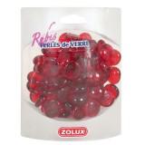 ZOLUX Perles de Verre Rubis