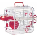 ZOLUX Rody Lounge DUO Cerise - Cage pour hamster