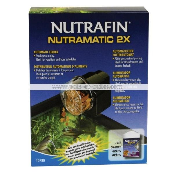 Distributeur de nourriture nutrafin nutramatic x2 for Distributeur aliment poisson