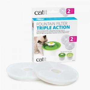 CATIT Filtre triple action pour fontaine x2