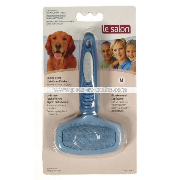 Le salon brosse combin e carde nylon m pour chien - Salon de chat gratuit ...