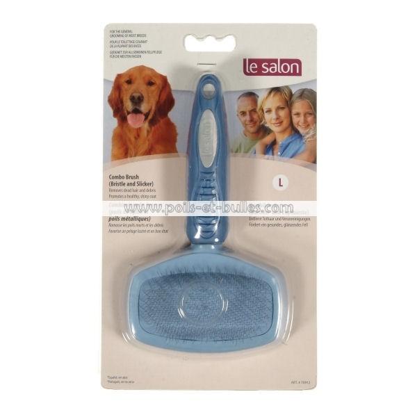 Le salon brosse combi carde nylon l pour chien - Salon de chat gratuit ...