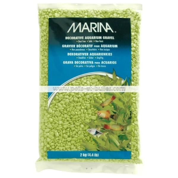 Marina gravier deco vert jaune pour aquarium for Gravier aquarium
