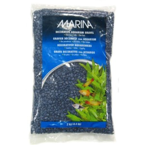 MARINA Gravier Deco Bleu Marine 2kg pour aquarium