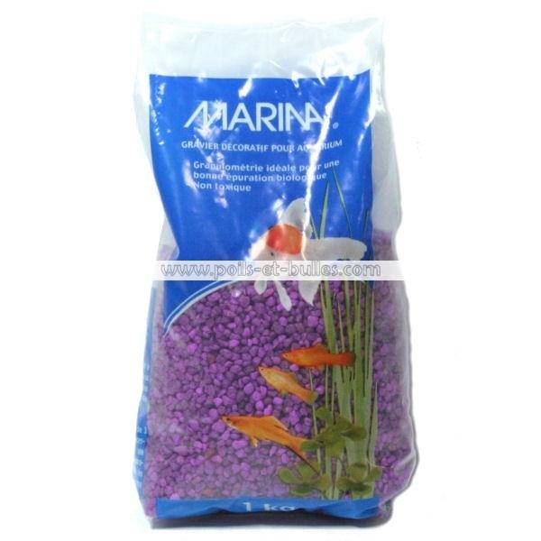Marina gravier fin lavande pour aquarium for Gravier pour aquarium