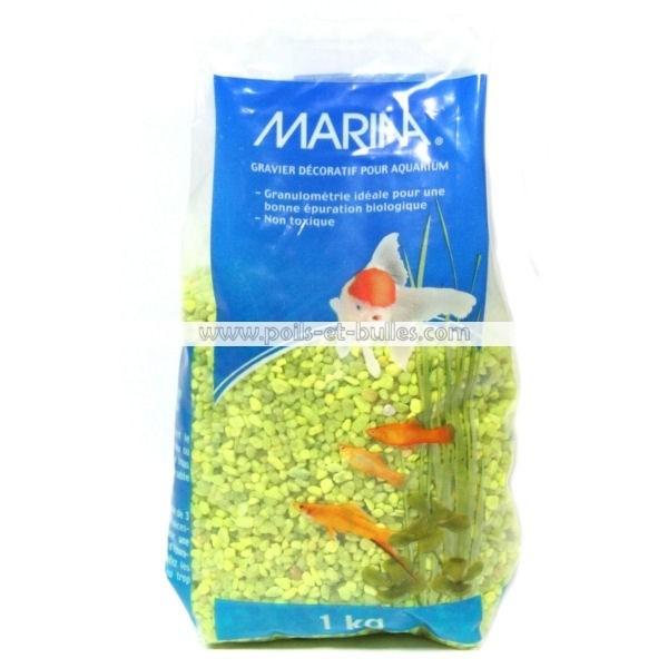 Marina gravier fin jaune pour aquarium for Gravier aquarium