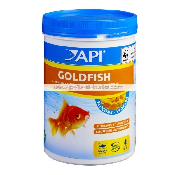 Api goldfish flocons aliment pour poissons rouges for Alimentation guppy poisson rouge