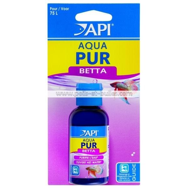 Api aqua pur betta conditionneur d 39 eau pour poisson for Poisson combattant prix