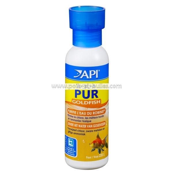 Api aqua pur goldfish conditionneur d 39 eau pour poissons for Eau pour poisson rouge