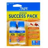 API AQUA Success Pack Goldfish - Conditionneur et bactéries pour poissons rouges