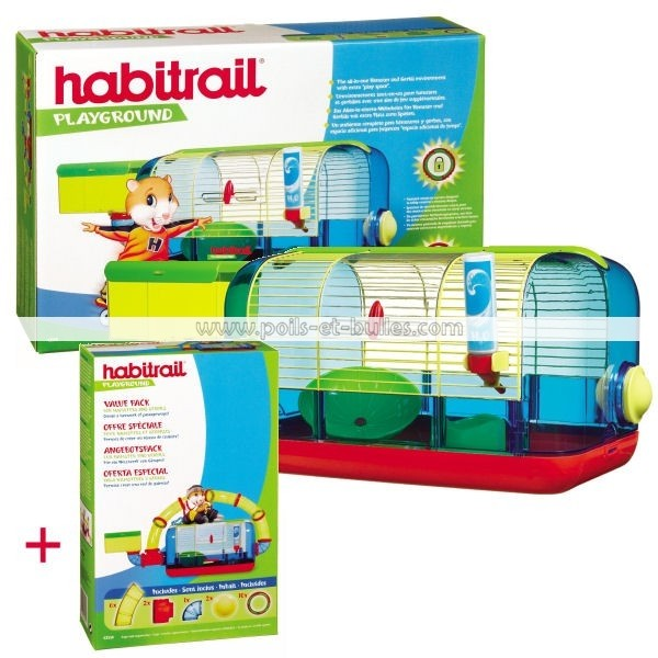 habitrail playground cage lot de tubes pour hamster. Black Bedroom Furniture Sets. Home Design Ideas