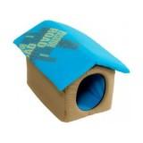 ROADSIGN Maison Beige et Bleu pour chat
