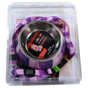 DOG IT Gamelle+Sellerie MM Violet