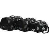 Panier de transport Flower Noir pour chien ou chat
