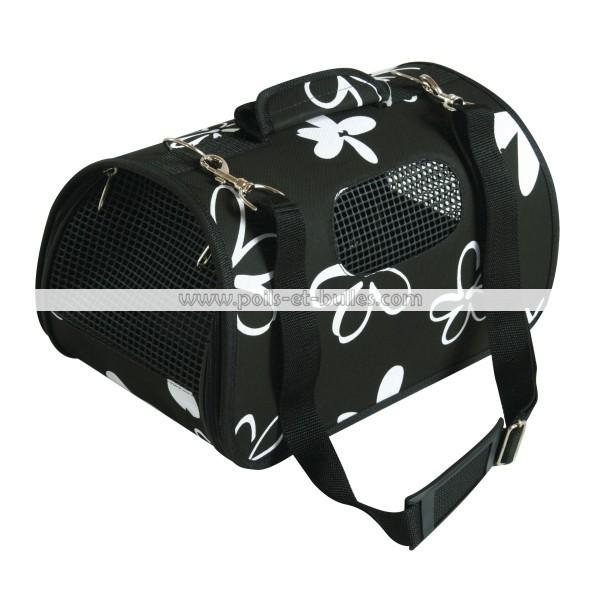 zolux panier de transport flower noir pour chien ou chat. Black Bedroom Furniture Sets. Home Design Ideas