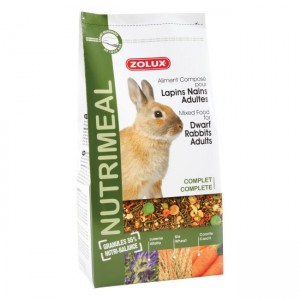 ZOLUX NutriMeal Lapin Nain - Aliment pour lapin nain adulte