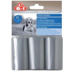 8IN1 Poop Patrol Recharge de 45 sacs à déjections canines
