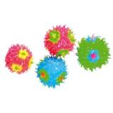 Jouet balles dures pour chat avec surface silicone multicolore